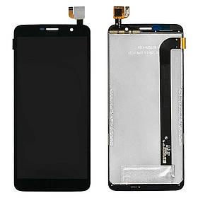 Дисплей (экран) для Homtom S7 с сенсором (тачскрином) черный Оригинал