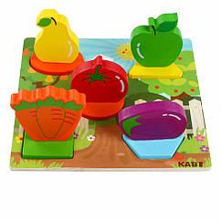 Дерев'яна іграшка Рамка-вкладиш MD 1508-3 Овочі