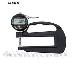 Толщиномер электронный бумаги, ткани, полиэтилена Shahe 0-10 мм/0,001 (5331-10)