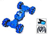 Детская трюковая машинка-багги перевёртыш YL-41, управления жестами руки и радиоуправление, синяя