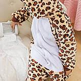 Детская пижама кигуруми с леопардом цельная детская пижама комбинезон кигуруми, фото 2