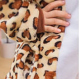 Детская пижама кигуруми с леопардом цельная детская пижама комбинезон кигуруми, фото 4