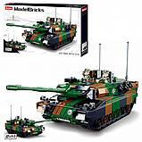 Конструктор Sluban 0839 Боевой танк 2в1 Leopard 2A5 MBT 766 деталей, фото 2