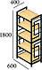Стеллаж 5 полок Квадро Металл-Дизайн Лофт, фото 5
