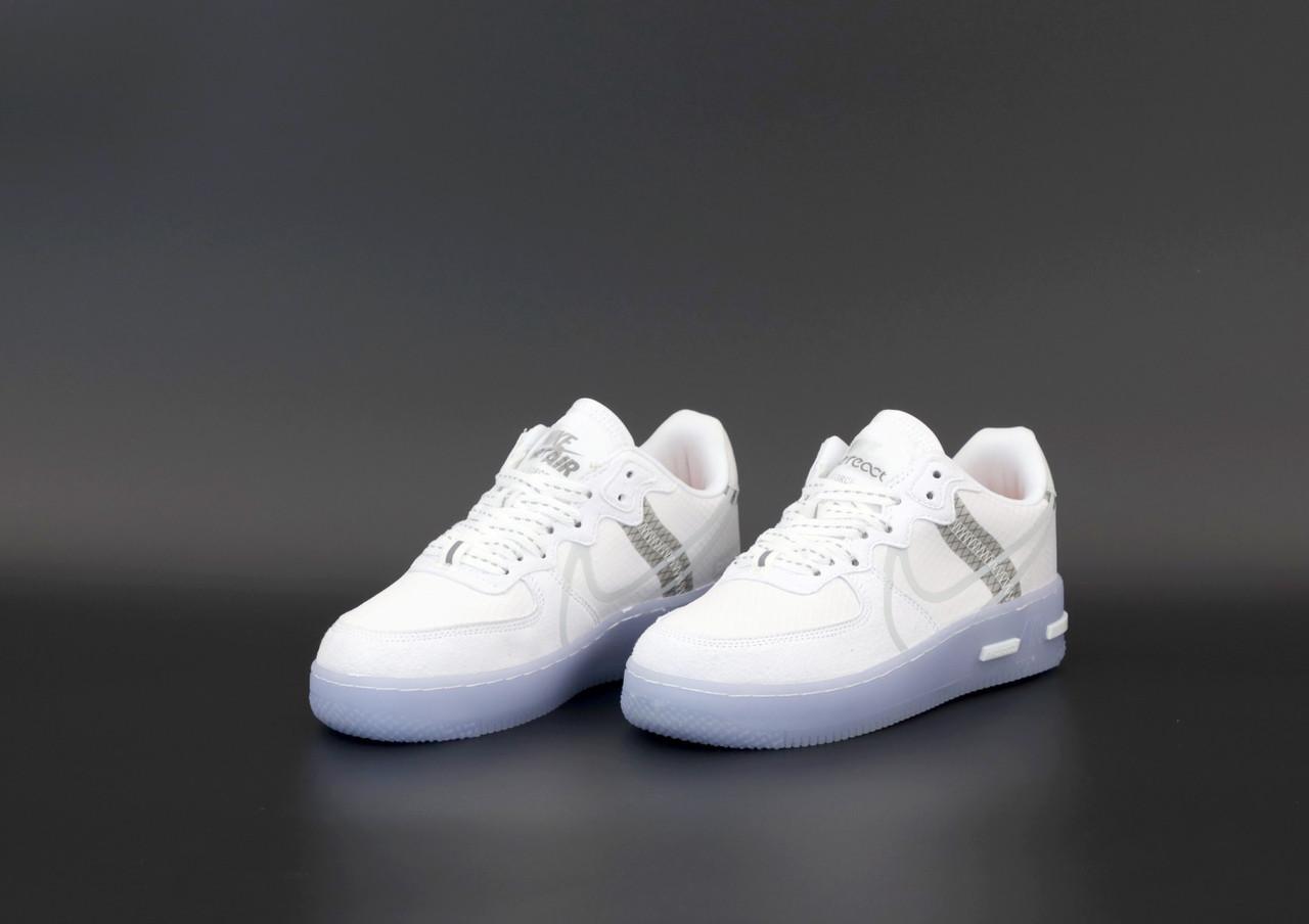 Мужские белые Кроссовки Nike Air Force 1(реплика)