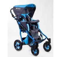 Детское кресло-коляска CHILD 1 серо-голубая