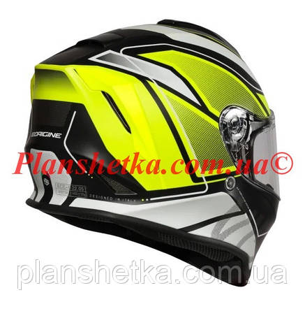 Шлем интеграл Origine Dinamo Galaxi Matt Fluo Yellow Black (56-57 см) модель 2020, фото 2