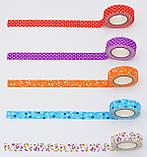 """Стрічка текстильна самоклеюча """"Помаранчеві квіти"""", 1,5 см*5м, фото 3"""