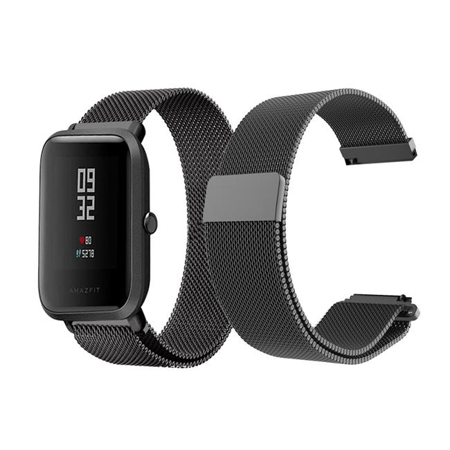 Ремешок BeWatch миланская петля для Xiaomi Amazfit BIP Черный 1010201, КОД: 179489
