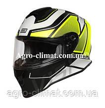 Шлем интеграл Origine Dinamo Galaxi Matt Fluo Yellow Black размер М (57-58 см) модель 2020