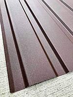 Профнастил для забора шоколад Матовый ПС-20, тощина 0,45 мм; высота 1.5 метра ширина 1,16 м
