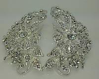 Гребни для фаты с сияющими кристаллами. Аксессуары  бижутерии для невест. 202