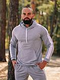 Чоловічий осінній спортивний костюм з лампасами (grey), фото 5