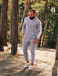 Чоловічий осінній спортивний костюм з лампасами (grey), фото 3