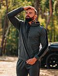 Мужской осенний спортивный костюм с лампасами (dark grey), фото 2