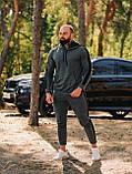 Мужской осенний спортивный костюм с лампасами (dark grey), фото 3