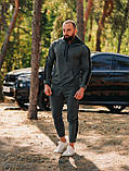 Мужской осенний спортивный костюм с лампасами (dark grey), фото 4