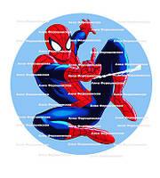 Человек паук вафельная картинкадля торта, пищевая печать, фото печать, украшения для торта