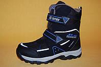 Детская зимняя обувь Термообувь B&G Украина 21304 Для мальчиков Черный размеры 34_37