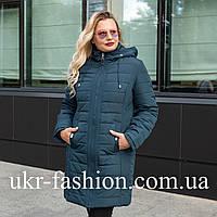 Женская демисезонная куртка больших размеров 50-60 волна