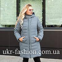 Демисезонная женская куртка большого размера 50-60 брокард