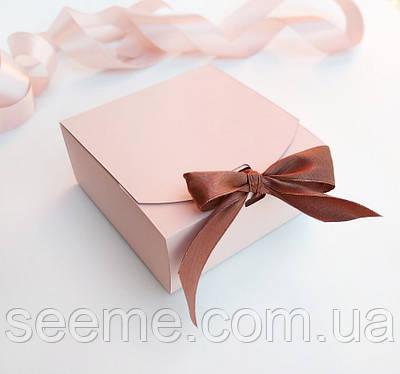 Коробка подарункова 115х115х50 мм, колір можна вибрати з палітри
