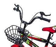 """Детский велосипед 16 """"SHENGDA"""" GREEN T12, РУЧНОЙ И ДИСКОВЫЙ ТОРМОЗ Гарантия качества Быстрая доставка, фото 5"""
