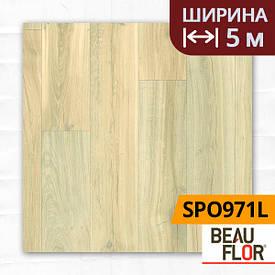Лінолеум ПВХ Beauflor Supreme Pristine Oak 991L, Ширина - 5 м; 2.9/0,4 - напівкомерційний на підкладці