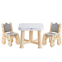 """Детский функциональный столик POPPET """"Классик"""" и два стульчика"""