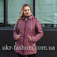 Куртка женская осень-весна Батал 52,54,56 чайная роза