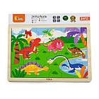 Деревянный пазл Viga Toys Динозавры, 24 эл. (51460), фото 2