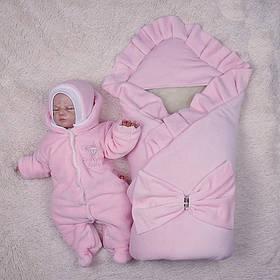"""Зимний набор на выписку """"Мария+Brilliant Baby"""" розовый"""