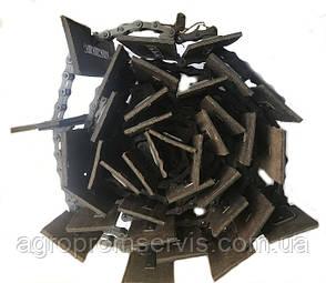 Транспортер зерно-метателя ЗМ-90 скребковый  комплект (17,67 м.) 78 лопаток 280х100, фото 2
