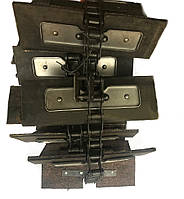 Транспортер зерно-метателя ЗМ-30 скребковый короткий (3,72 м.) 12 лопаток 200х100