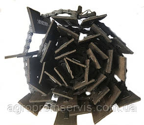 Транспортер зерно-метателя ЗМ-30 скребковый  комплект (14,68 м.) 48 лопаток 200х100, фото 2