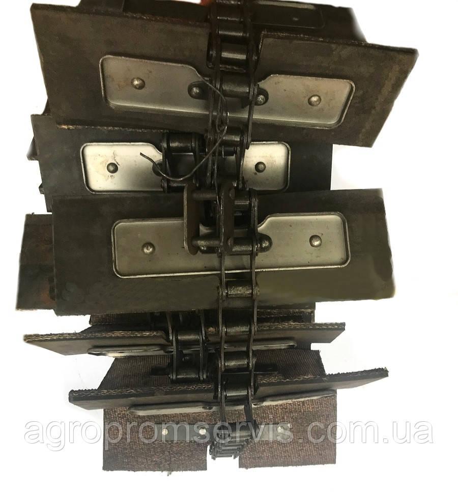 Транспортер зерно-метателя ЗМ-30 скребковый  комплект (14,68 м.) 48 лопаток 200х100