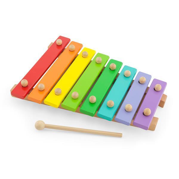 Музыкальная игрушка Viga Toys Деревянный ксилофон, 8 тонов (58771)