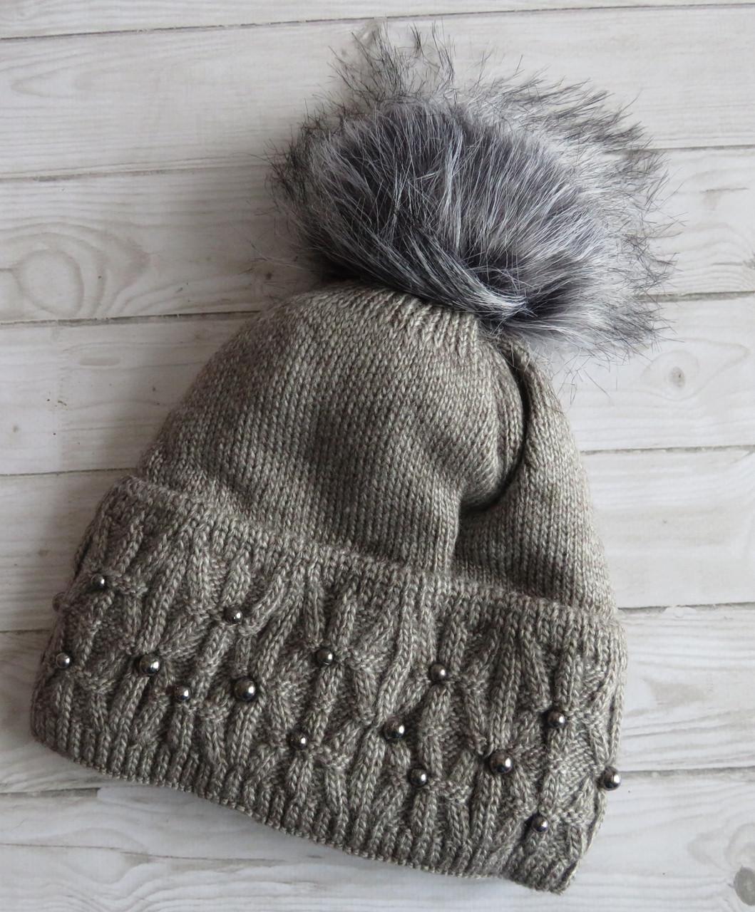 Теплая шапка Nord Fibi, серая