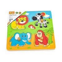 Дерев'яна рамка-вкладиш Viga Toys Звірята в Африці (59563)