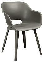 Кресло пластиковое для офиса, кресло пластиковое для кафе и дома Akola, бежевый