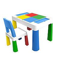 """Детский многофункциональный столик POPPET """"Колор Блу 5 в 1"""" и стульчик"""