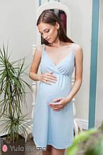 Комфортная ночнушка для беременных и кормящих мам на бретелях VIOLA NW-1.10.2