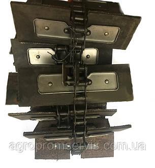 Транспортер зерно-метателя ЗМ-60 загрузочный  комплект (17,67 м.)  78 лопаток 250х100, фото 2