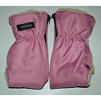 Перчатки-муфта (трансформер) на коляску и санки Womar 3 розовый 12043