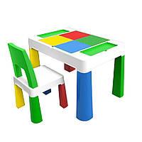 """Детский многофункциональный столик POPPET """"Колор Грин 5 в 1"""" и стульчик"""