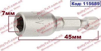 Биты с торцевыми головками 7 мм, 45 мм, MTX (115689)