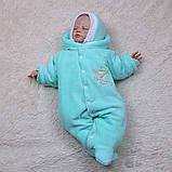 """Зимний набор на выписку """"Мария+Brilliant Baby"""" ментоловый, фото 2"""