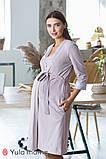 Красивый комплект из ночнушки и халата с кружевом для беременных и кормящих мам Maya комплект NW-3.1.2, фото 2
