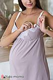 Красивый комплект из ночнушки и халата с кружевом для беременных и кормящих мам Maya комплект NW-3.1.2, фото 7