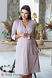 Красивый комплект из ночнушки и халата с кружевом для беременных и кормящих мам Maya комплект NW-3.1.2, фото 8